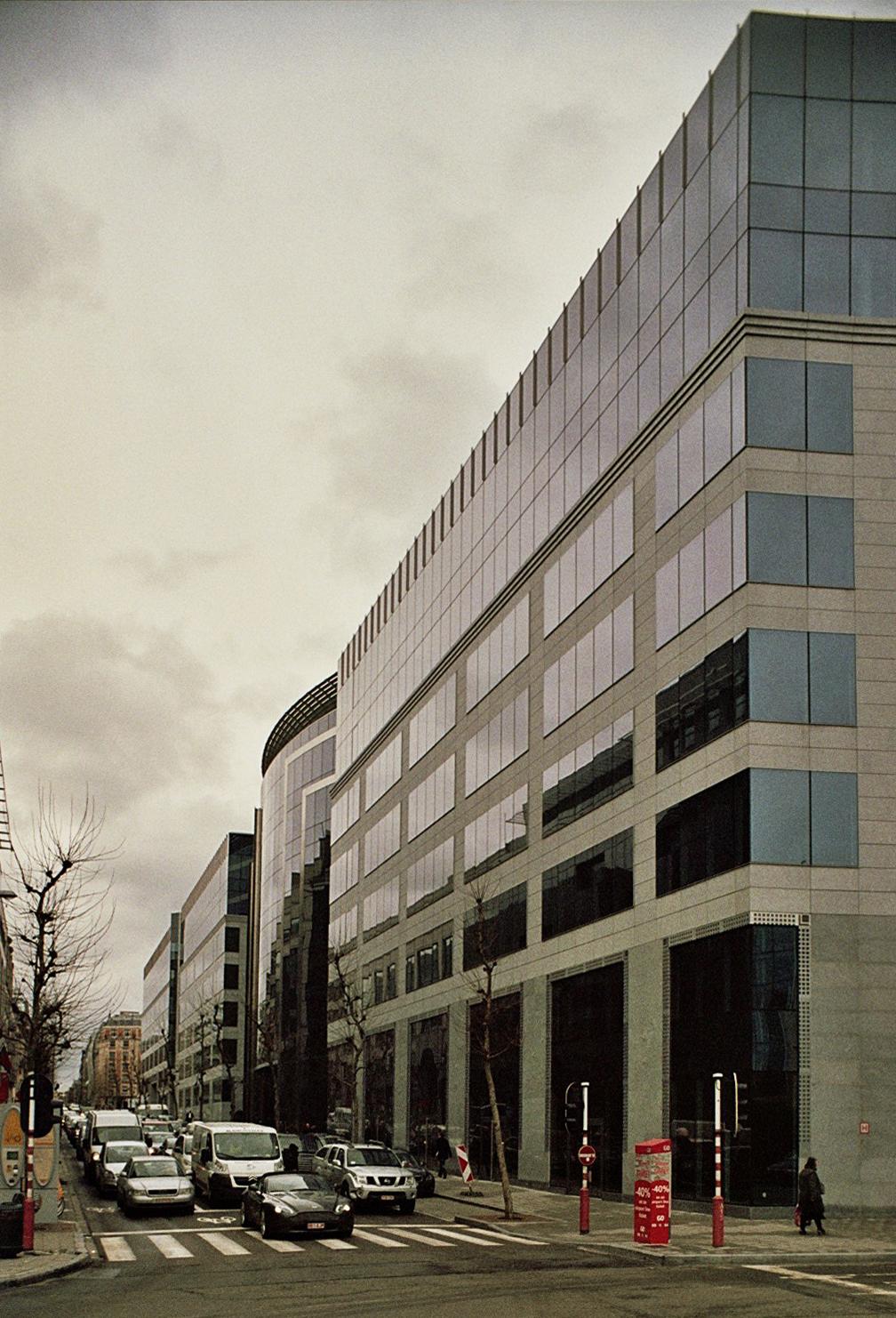 L'avenue de Cortenberg, côté impair, depuis le rond-point Schuman., 2010