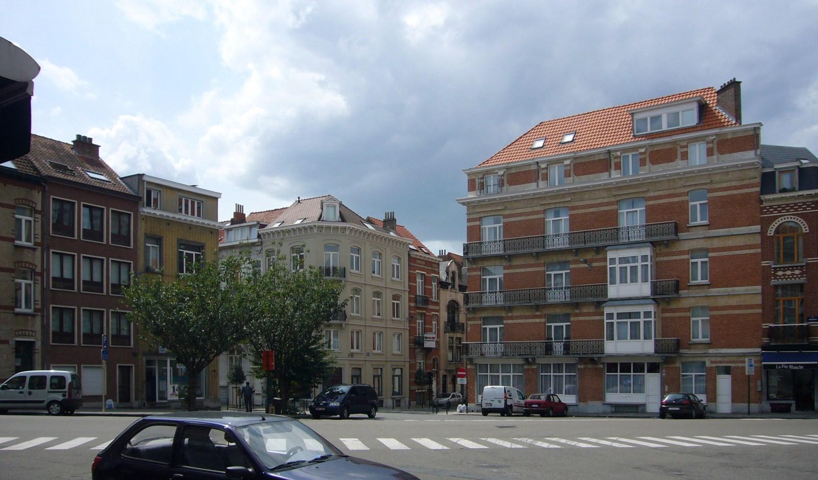 La place Wappers, depuis la rue Théodore Roosevelt., 2009