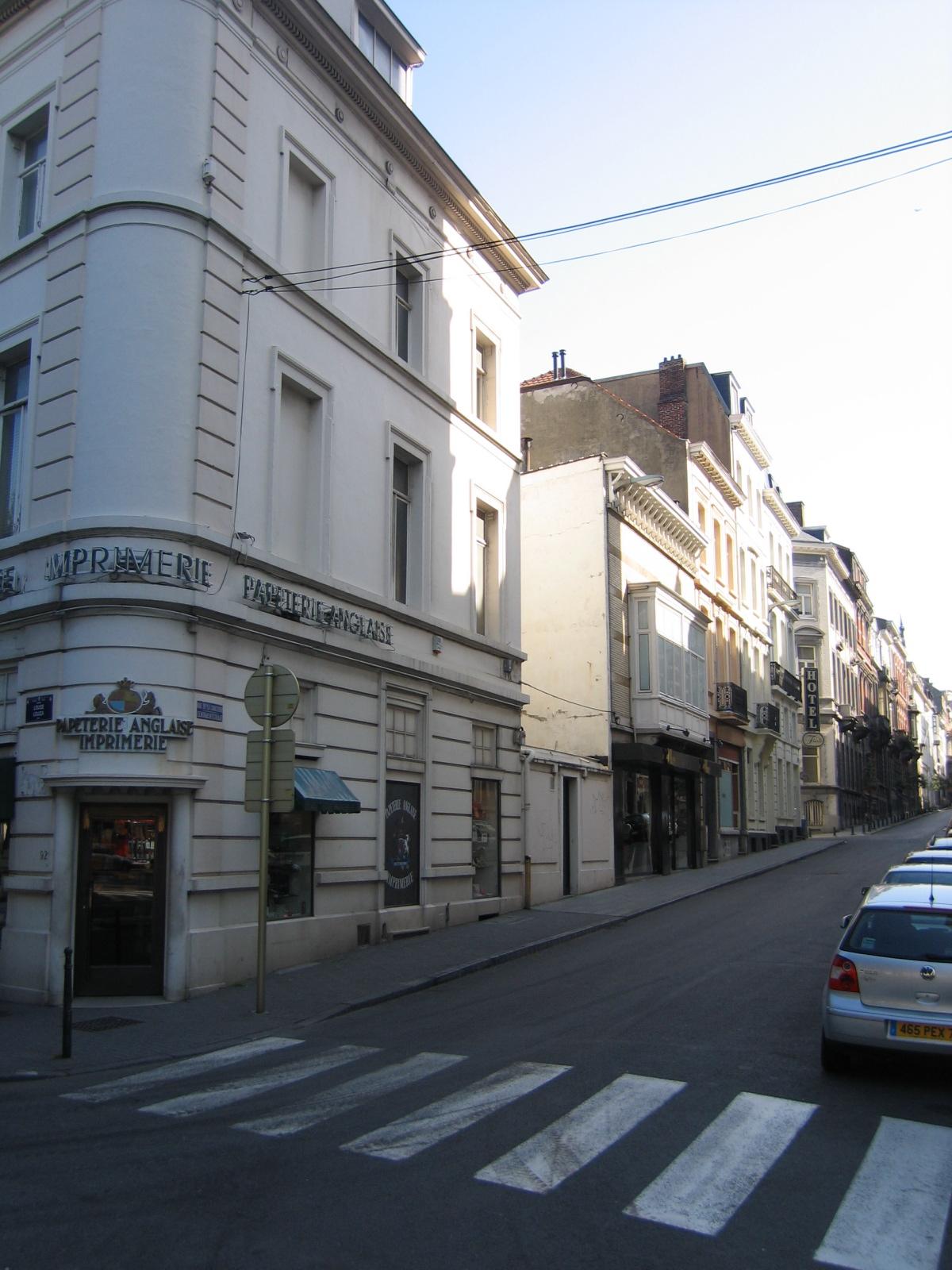 Rue de la Concorde, vue du coté impair depuis l\'avenue Louise., 2006