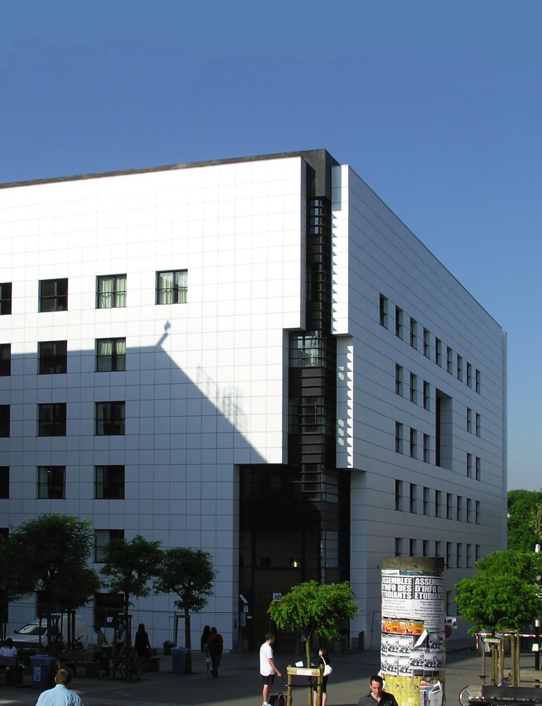 Nouvelle bibliothèque, vue depuis l'avenue Paul Héger., 2008