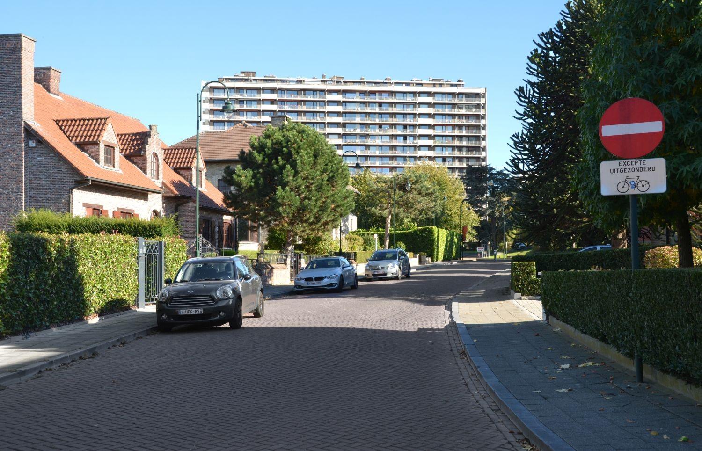 Avenue de l'Amphore, vue vers l'avenue du Forum© ARCHistory / APEB, 2018