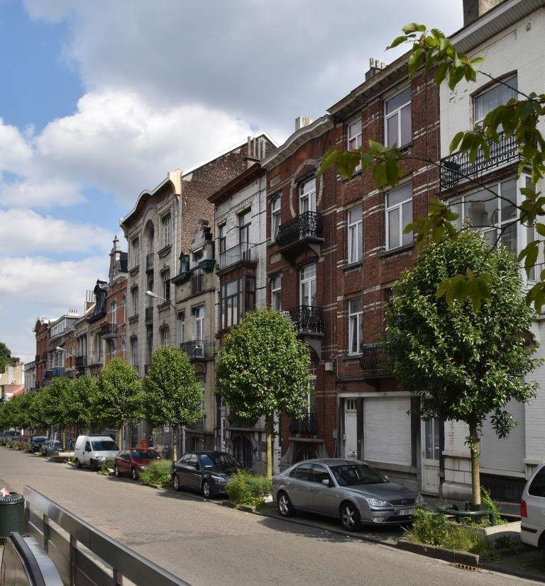 Rue des Artistes, vue du dernier tronçon côté pair depuis le boulevard Bockstael© (© APEB, 2017)