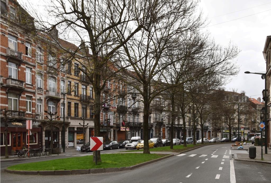 Boulevard Émile Bockstael, vue depuis la place Bockstael vers le sud, 2017