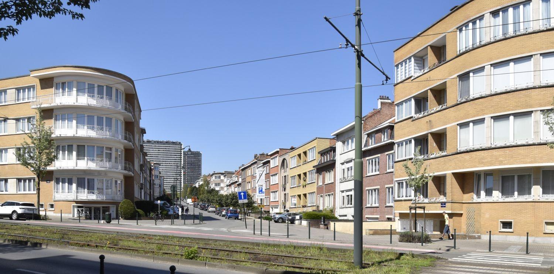 Avenue Émile Van Ermengem, vue depuis l'avenue Stiénon© ARCHistory / APEB, 2018