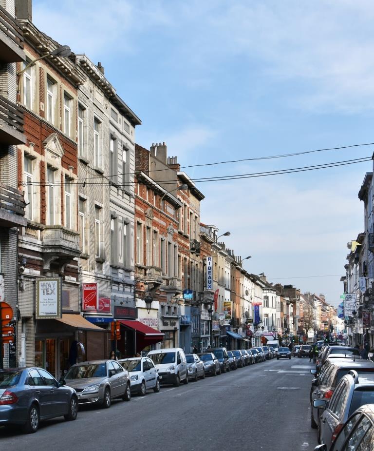 Maria-Christinastraat, onpare zijde van het vierde straatgedeelte richting Kerkeveldstraat, 2017