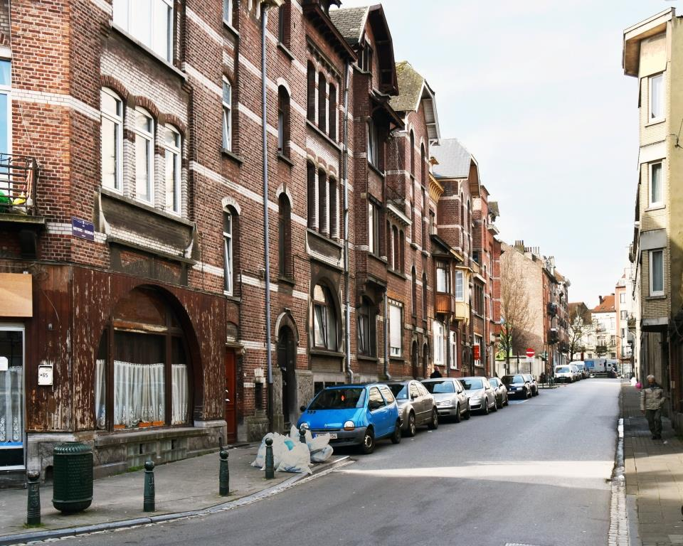 Rue Meyers-Hennau, vue depuis la place Joseph Benoit Willems, 2017