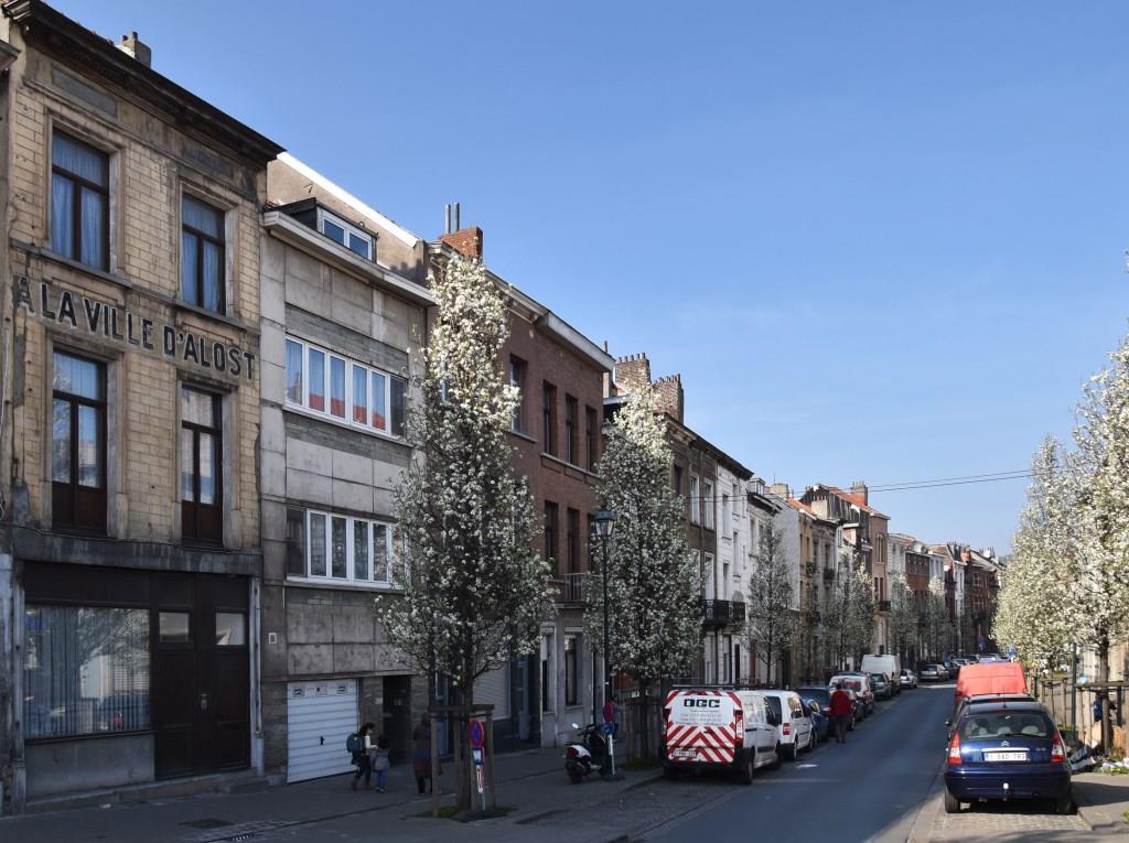 Rue des Palais Outre-Ponts, vue du côté pair depuis la chaussée de Vilvorde, 2017