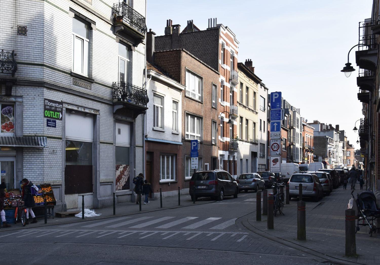 Rue du Pannenhuys, vue depuis la rue Léopold Ier© ARCHistory / APEB, 2018