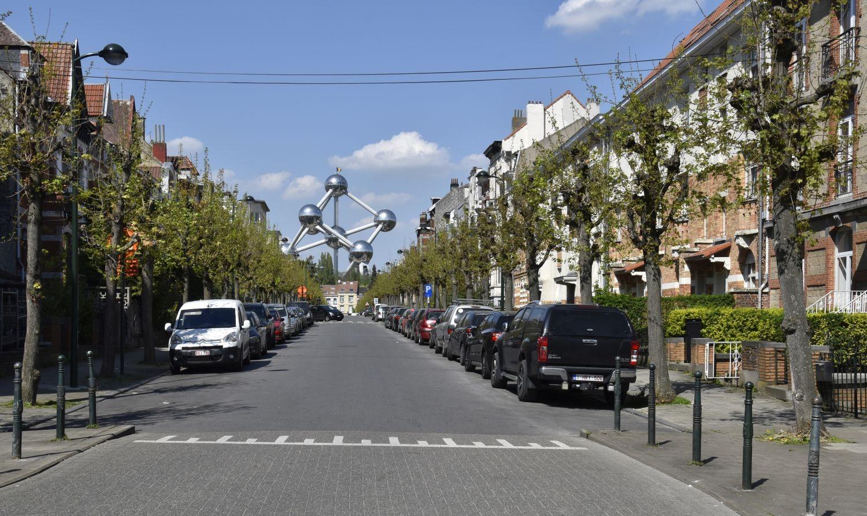 Rue Stevens-Delannoy, vue depuis le début de la rue vers le nord© ARCHistory / APEB, 2018