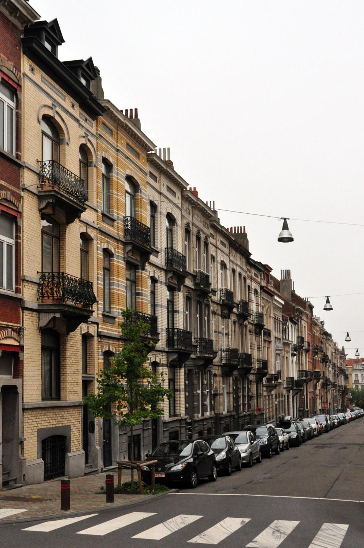 Rue Théodore Roosevelt, vue du côté pair depuis la rue de Linthout, 2011
