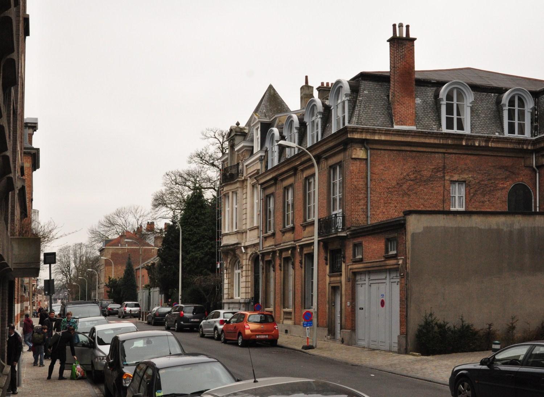 Rue Vergote, vue du côté impair vers la rue de Linthout, 2012