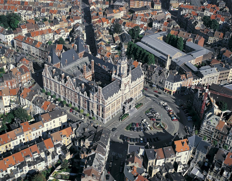 Place Colignon, vue aérienne© © Wim Robberechts