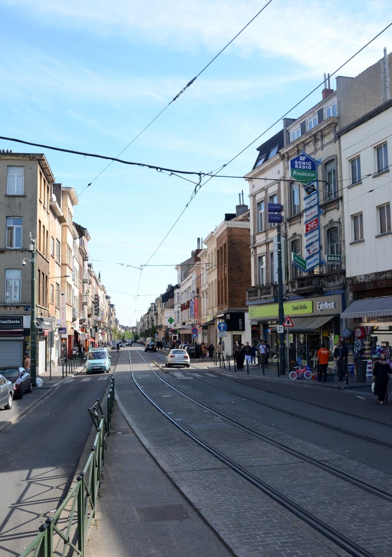 Rue Gallait, vue depuis la place Liedts, 2014