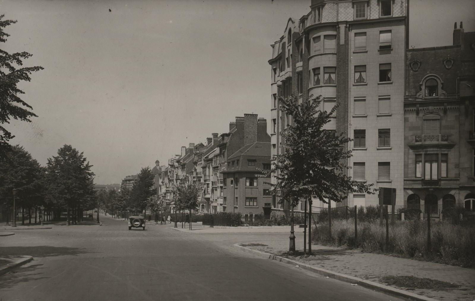 Vue du boulevard Lambermont prise à hauteur de l'avenue Eugène Demolder vers le début de l'artère© AVB/FI