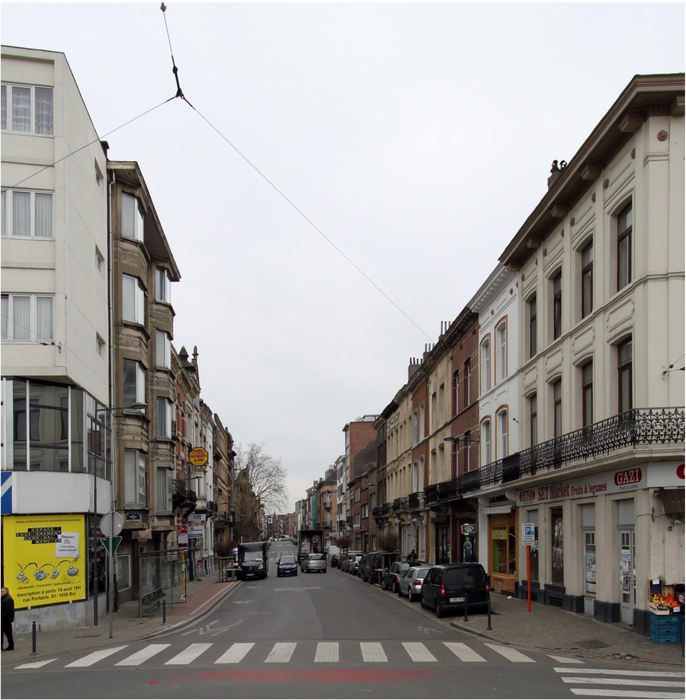 Rue Metsys, vue depuis la place Eugène Verboekhoven, 2014
