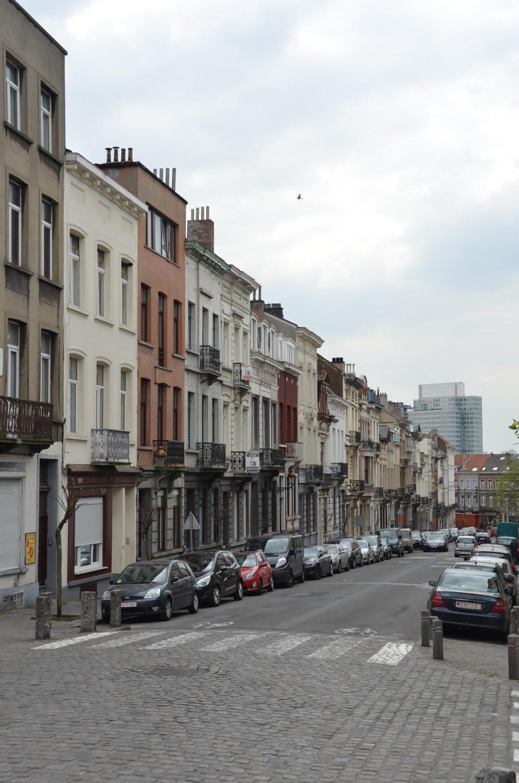 Rue Rubens, vue depuis la rue Renkin vers la rue Gallait, 2014