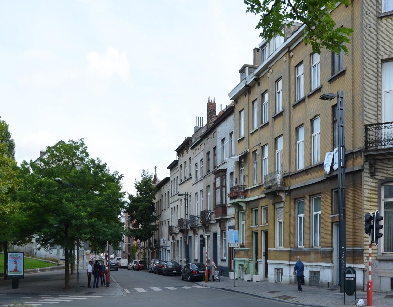 Rue d'Aerschot, vue vers la rue des Palais, 2014