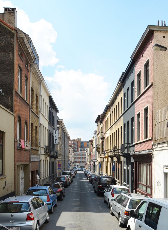 Rue de la Constitution, vue depuis la chaussée de Haecht, 2014