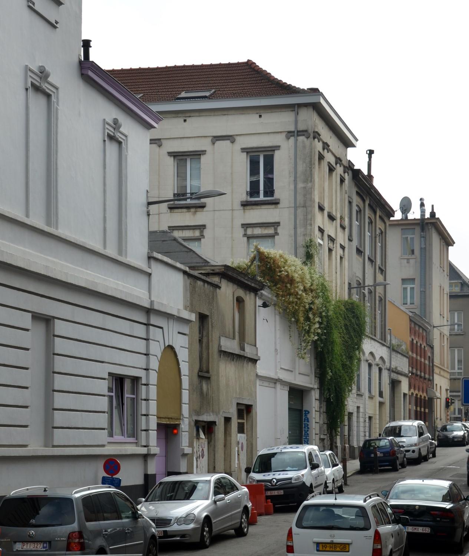 Rue Cornet de Grez, vue du côté impair depuis la rue Royale, 2014