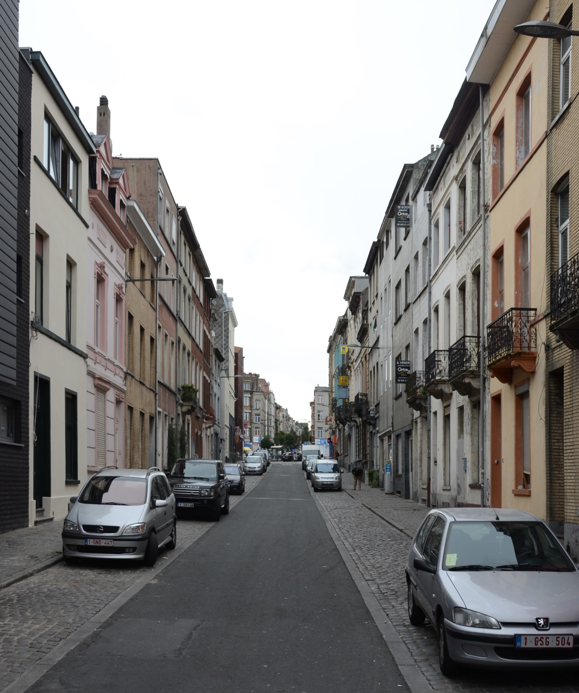 Rue Liedts, vue depuis la rue d'Aerschot, 2014
