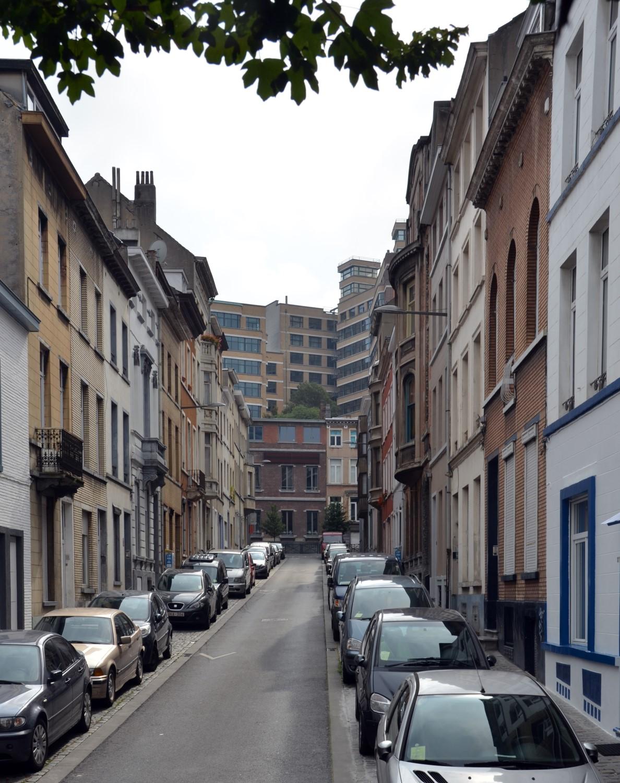Rue de Quatrecht, vue vers la rue Verte, 2014