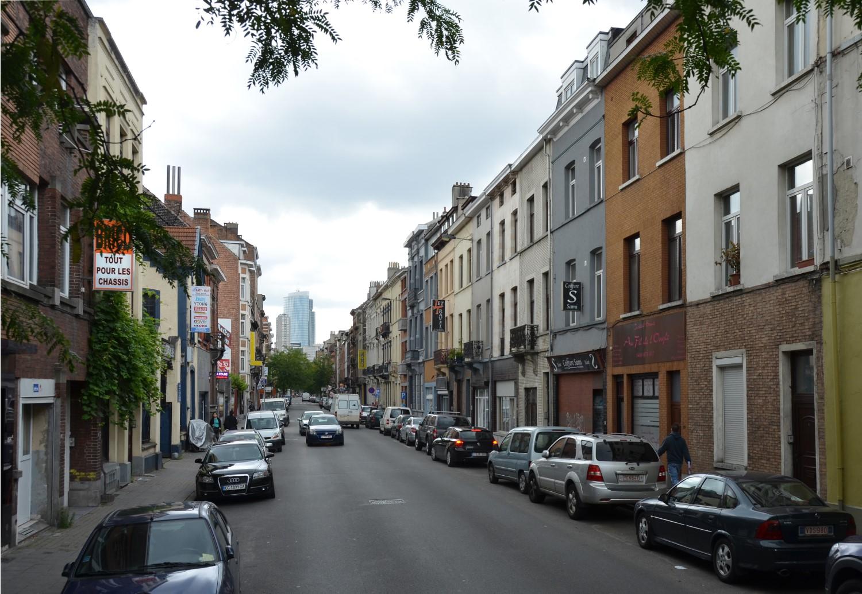 Rue des Coteaux, vue depuis la rue Thiéfry, 2014