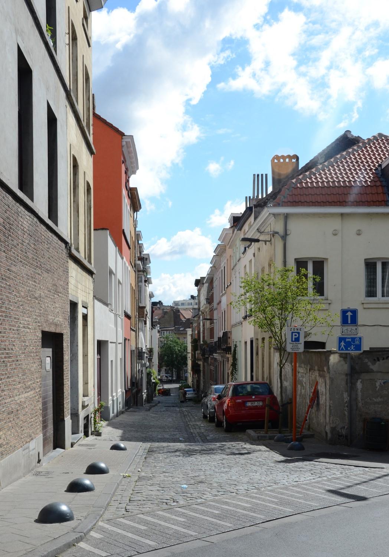 Rue Massaux, vue depuis la rue Philomène, 2014