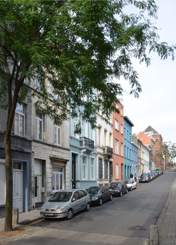 Rue Philomène, vue vers la chaussée de Haecht, 2014
