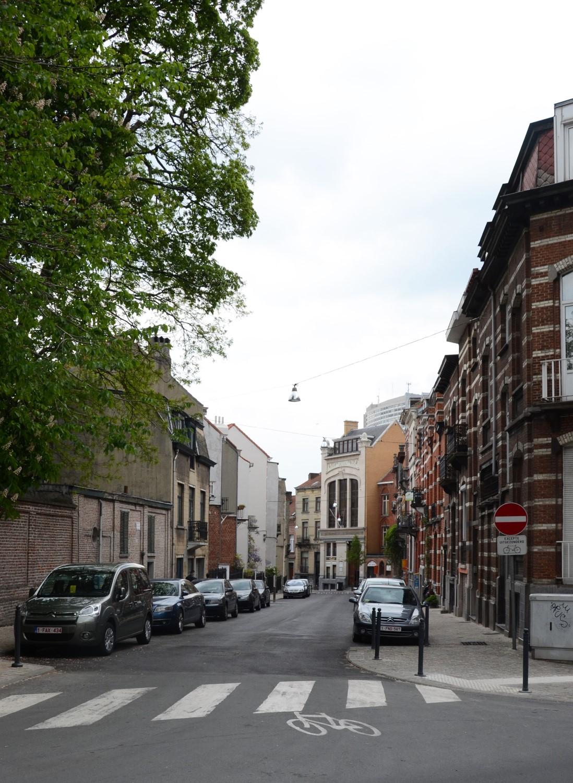Rue de la Ruche, vue depuis la rue de l'Est, 2014