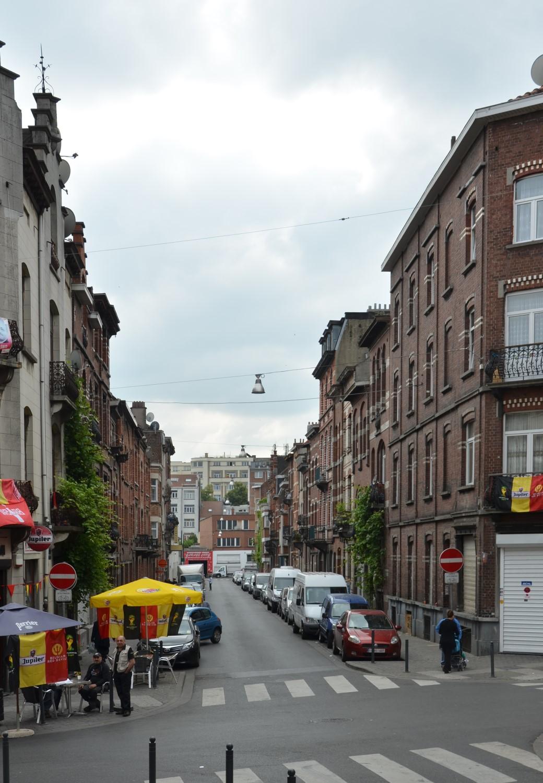 Rue Van Hoorde, vue depuis la rue Josaphat, 2014
