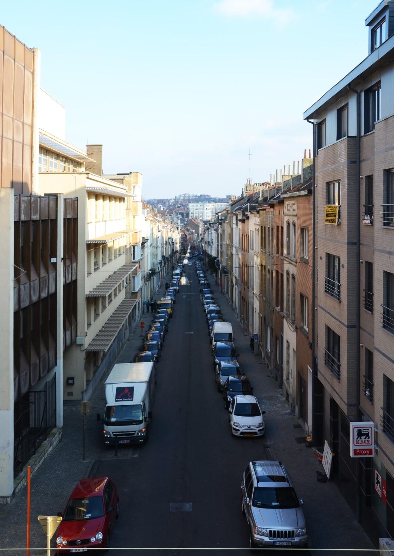 Rue Vifquin, vue depuis la chaussée de Haecht, 2014