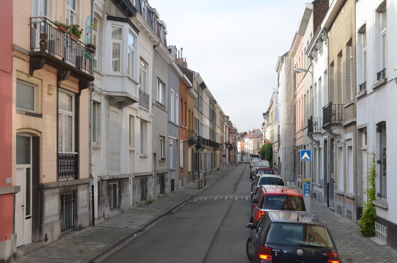 Rue Vonck, vue vers la rue de la Consolation, 2014
