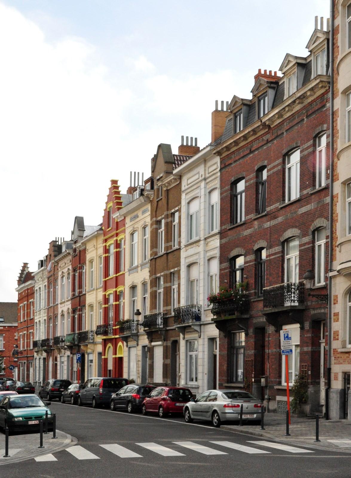 Rue Joseph Van Camp, premier tronçon côté impair, 2012
