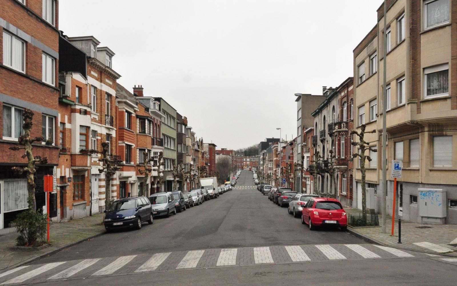 Avenue Jean Jaurès, vue depuis l\'avenue Huart Hamoir, 2012