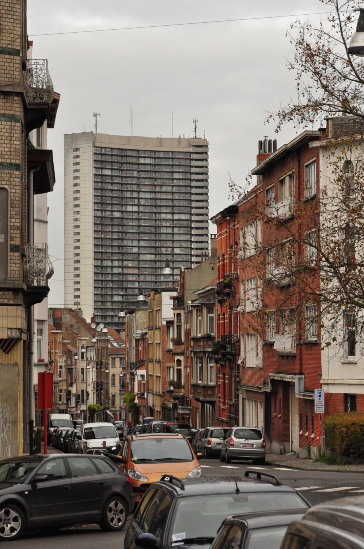 Rue Josse Impens, vue vers la rue des Pâquerettes, 2011