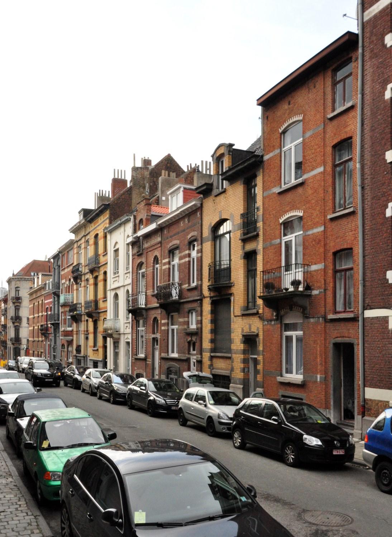 Rue Eugène Smits, vue du premier tronçon côté impair, 2012