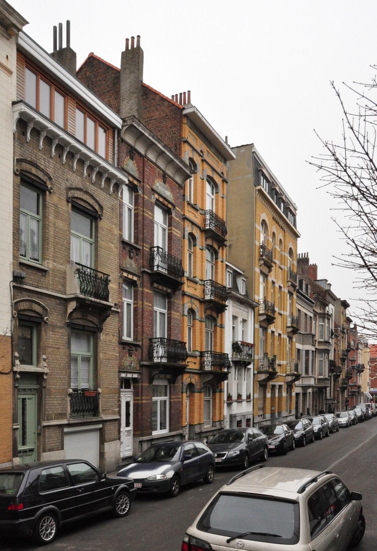 Rue Joseph Coosemans, vue du premier tronçon côté impair vers l'avenue Dailly, 2012
