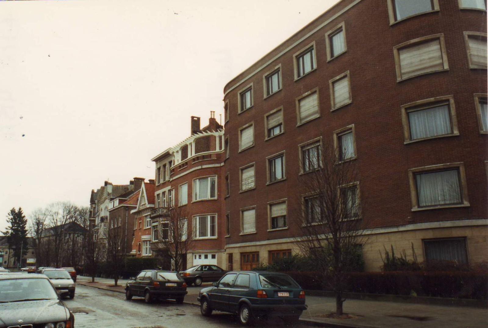Avenue Boileau, côté impair vers l\'avenue E. Mertens et l\'avenue Nestor Plissart., 1993