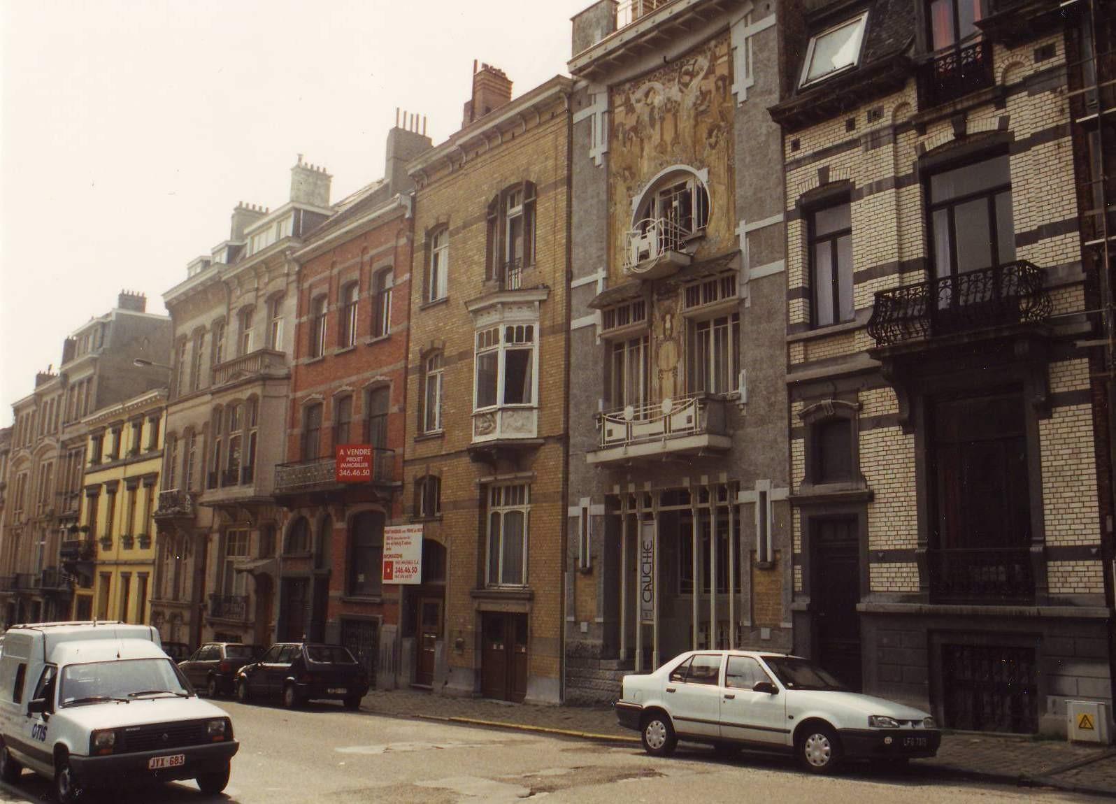 Rue des Francs, enfilade côté impair vers l\'avenue des Celtes., 1994