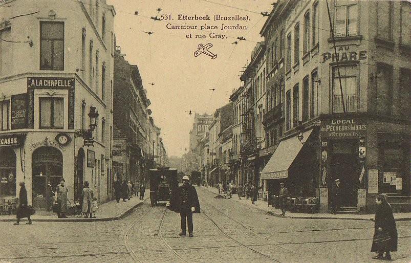 Graystraat vanop het Jourdanplein, s.d. © Verzameling van Dexia Bank).
