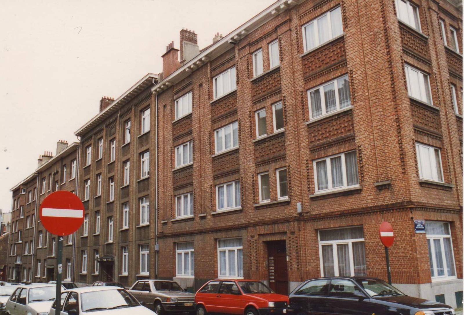 Rue Jean Massart, enfilade côté impair., 1994