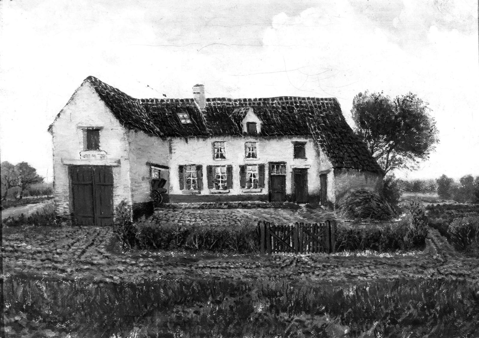 Rue Posschier, la ferme Posschier (Collection Maison Communale d\'Etterbeek).
