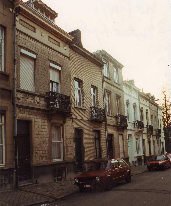 Rue Richard Kips, enfilade côté pair vers la rue Louis Hap., 1993