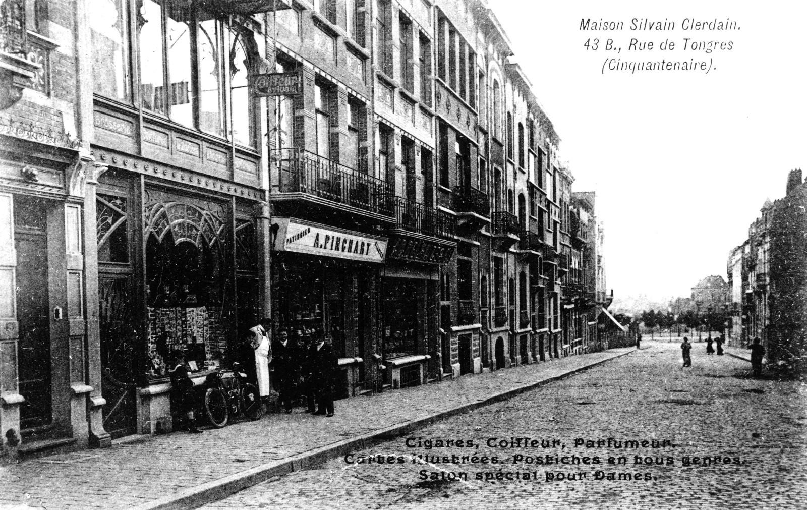 Rue des Tongres vers 1900 (Collection de Dexia Banque).