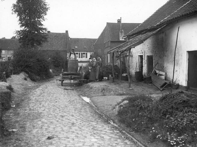 La rue Gersis en 1900.© © IRPA-KIK Bruxelles