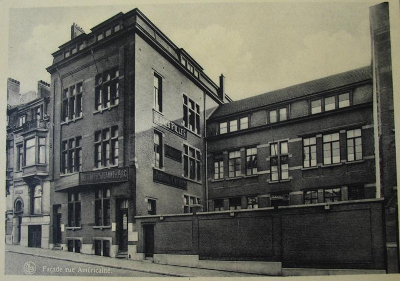 Rue Américaine 189, Institut Sainte-Jeanne d'Arc, école et couvent des Sœurs Zélatrices de la Sainte-Eucharistie, ACI/Urb. 16-189 (1953).