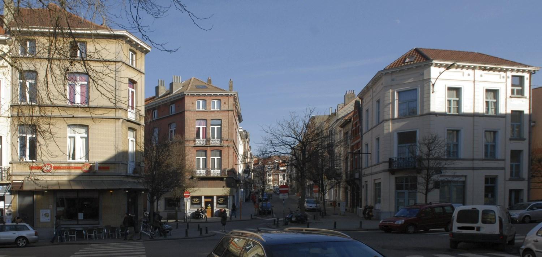 Chaussée de Boondael, bâti homogène à hauteur du croisement avec les rues du Serpentin et de la Cuve, 2013