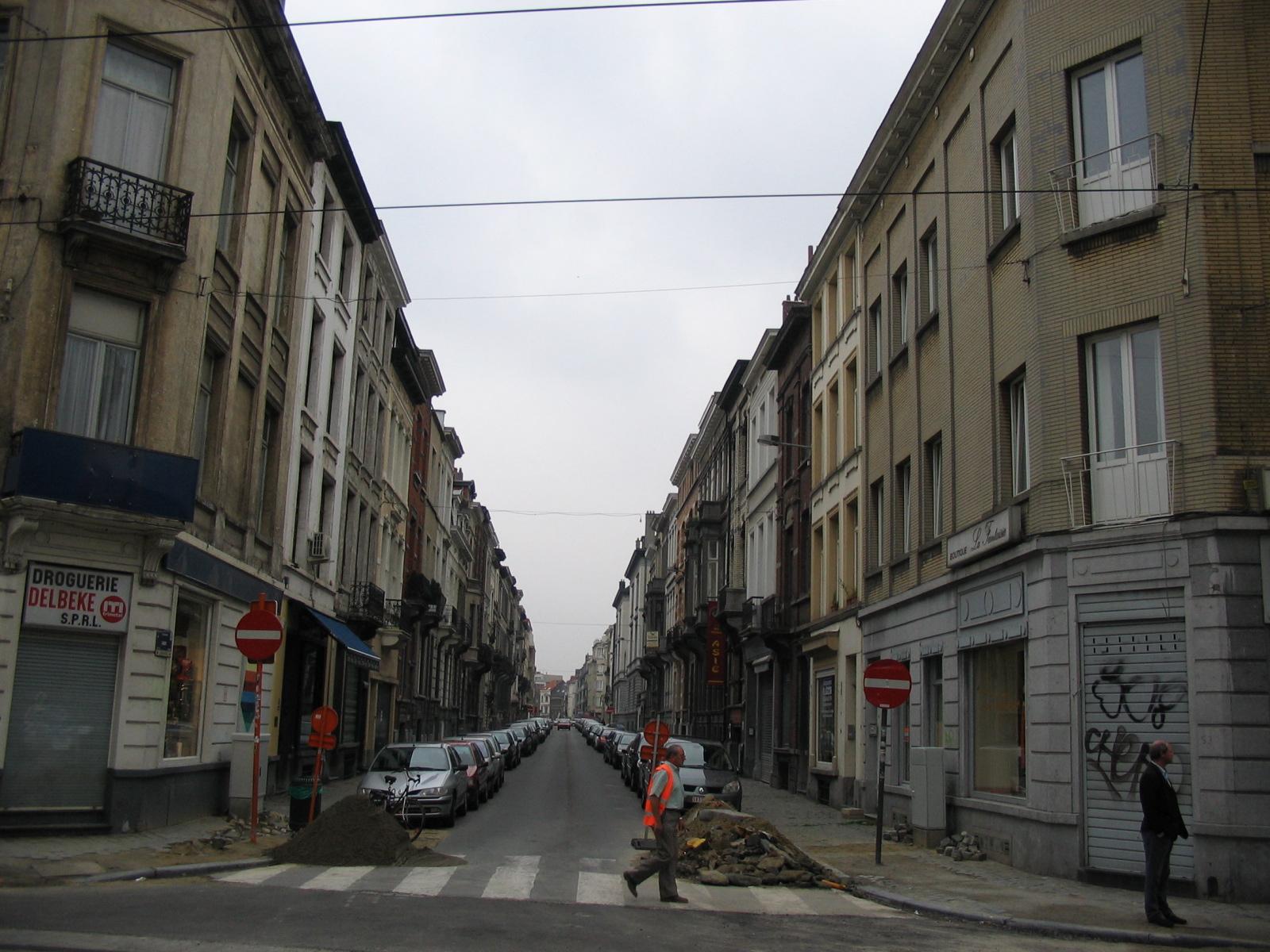 Rue Faider depuis la rue du Bailli., 2005