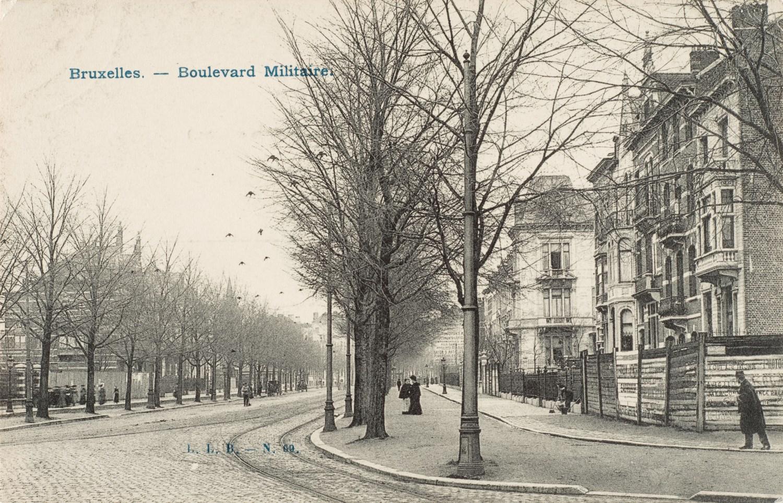 Boulevard Général Jacques à hauteur du n°5, entre 1902 et 1905© (Collection Dexia Banque-ARB-RBC)