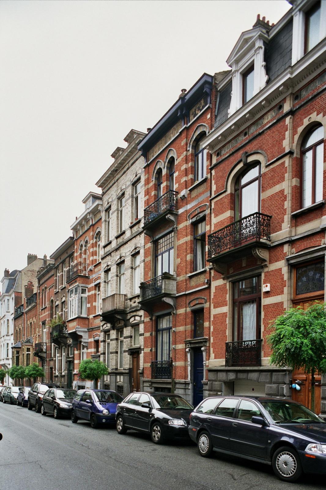 Rue Général Patton, enfilade de maisons éclectiques côté impair., 2006